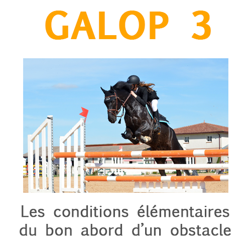 Galop 3, expliquer bien aborder l'obstacle