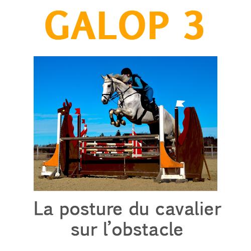 galop 3 posture du cavalier sur l'obstacle